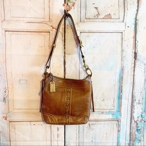 Chelsea Pebbled Laced Hippie Duffle Leather Cross